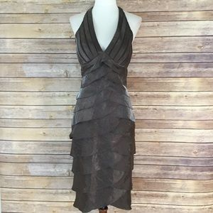 Cache brown pleated dress